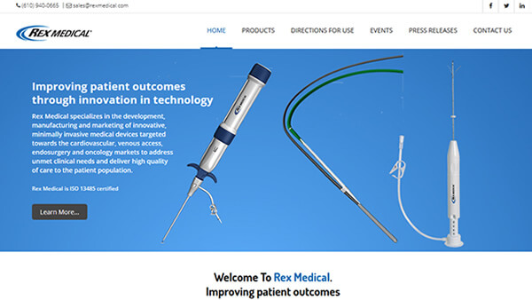 REX Medical website
