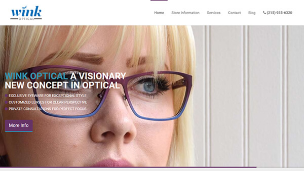 Wink Optical website