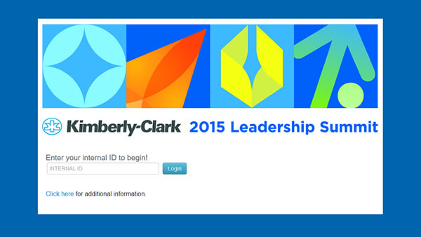 Kimberly-Clarke event registration website